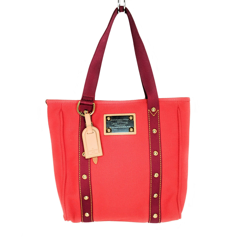 Louis Vuitton Red Canvas Antiqua Cabas MM Tote