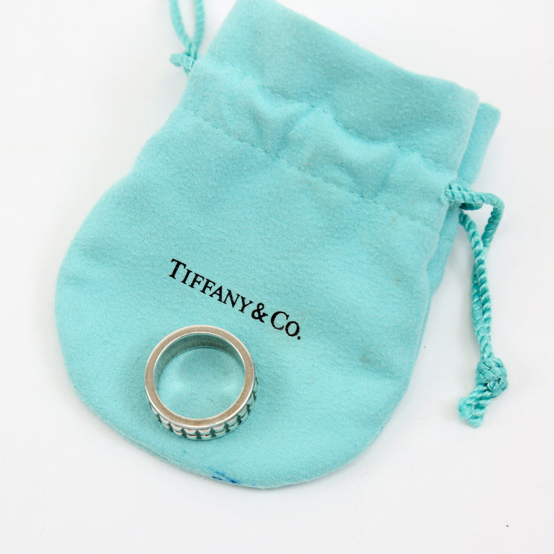 Tiffany & Co Pyramid Studded Ring Sterling Silver Size 7