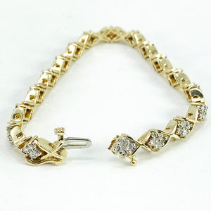 14K Gold and Diamond Tennis Bracelet