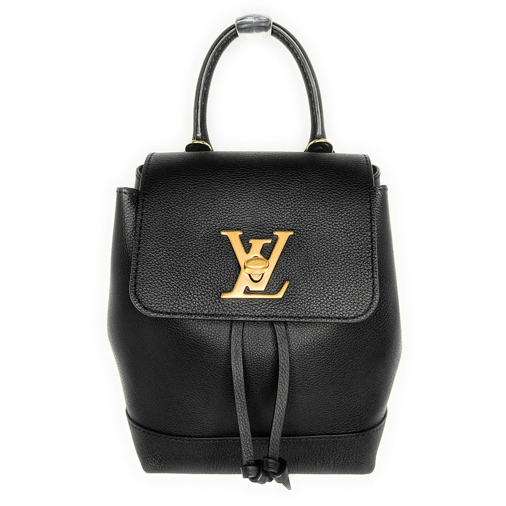 Louis Vuitton Black Calfskin Mini Lockme Backpack