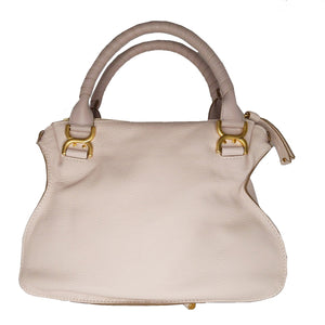 Chloe Abstract White Medium Marcie Leather Satchel