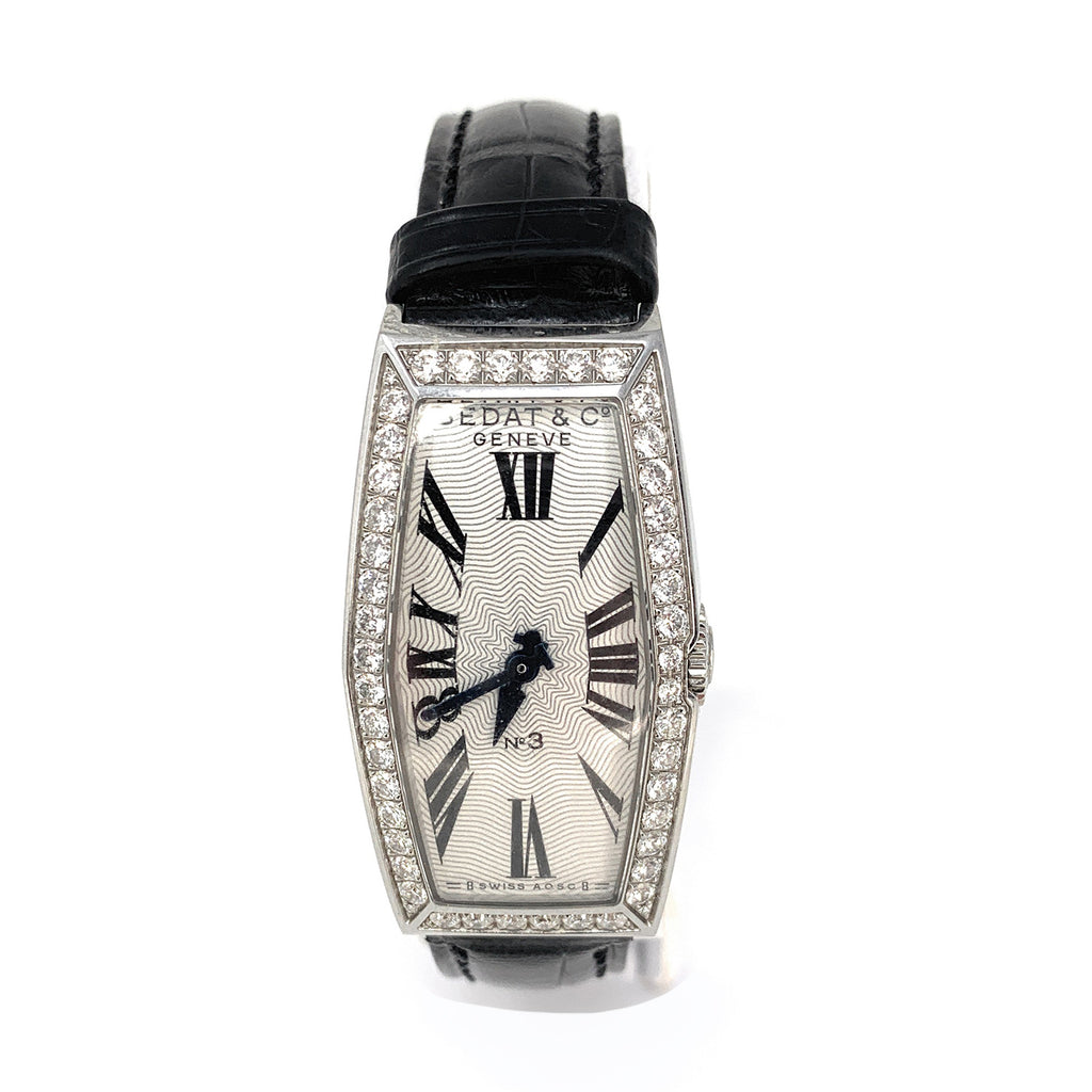 Bedat & Co. No.3 Stainless Steel Diamond Bezel 386.031.600 Women's Watch