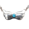 Native American Sterling Silver Sleeping Beauty Turquoise 3-Station Necklace