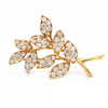 Vintage Oscar Heyman 18K Yellow Gold 5.00ctw Diamond Leaf Pin Brooch