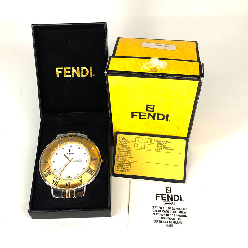 RARE! Fendi Desk & Mantel Watch/Clock 900c
