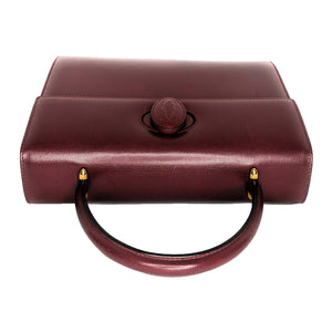 Cartier Must de Cartier Bordeaux Calf Leather Handbag