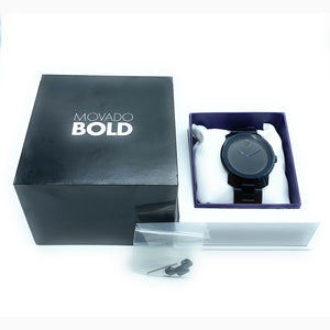 Movado BOLD MB.01.1.34.6159 Black Stainless Steel Men's Watch