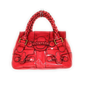 Valentino Red Patent Leather Histoire Tote