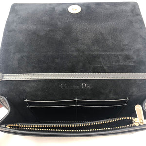 Christian Dior Lady Dior Wallet On Chain Gunmetal