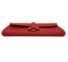 Hermès Jige Elan 29 Red Epsom Leather Clutch