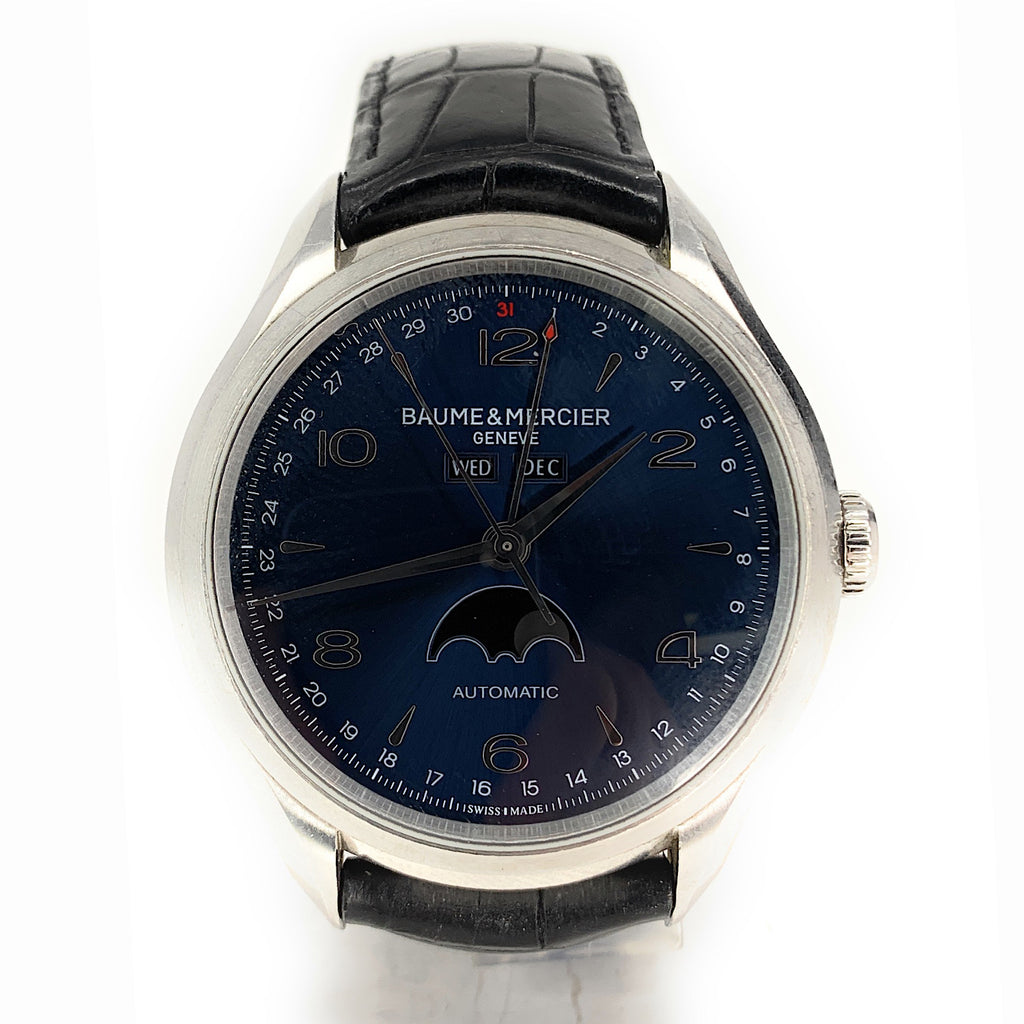 Baume et Mercier Clifton Blue Dial Moonphase Men's Watch