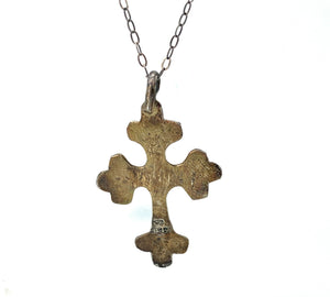 Vintage Old Pawn Navajo Sterling Silver Native American Cross Pendant