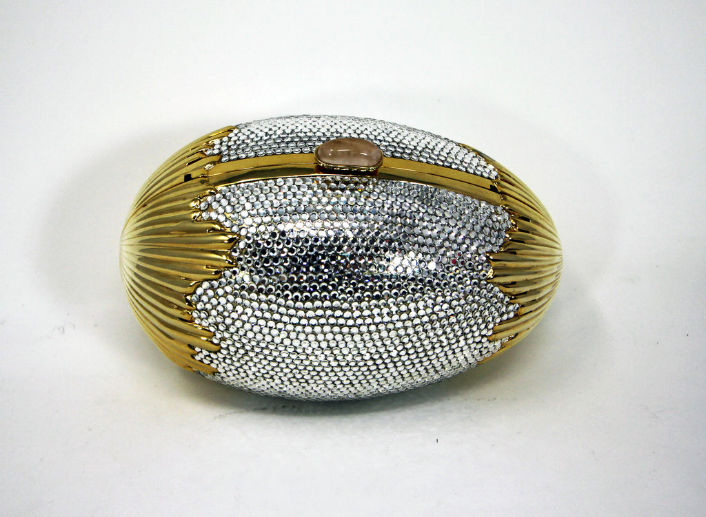 Judith Leiber Swarovski Crystal Egg Minaudiere Evening Bag
