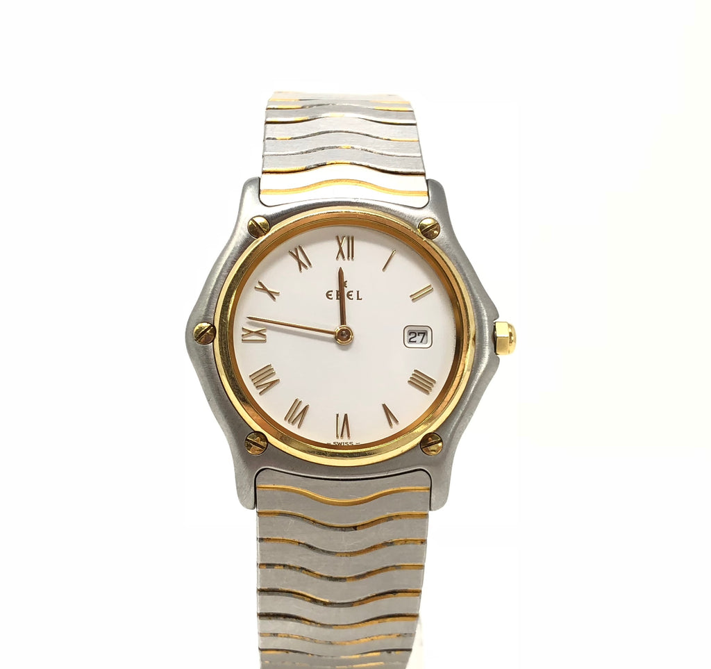 Ebel Men's Sport Classic Stainless Steel 24k Gold Electroplated Watch 1088131