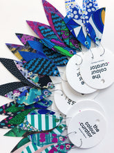 Load image into Gallery viewer, GREEN/BLUE COLOUR PALETTE - Feather Earrings