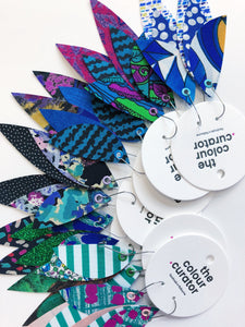 GREEN/BLUE COLOUR PALETTE - Feather Earrings