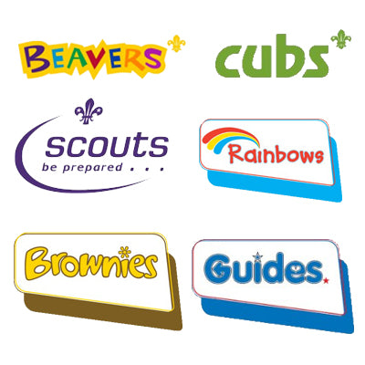 Brownies, Rainbows, Guides, Beavers, Cubs & Scouts