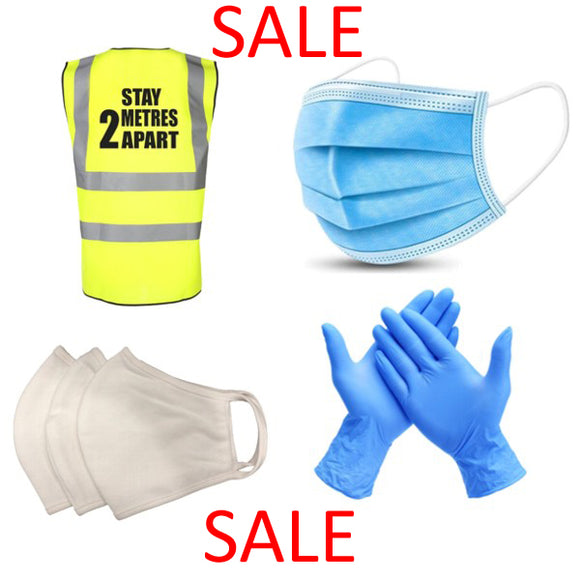 1. Face Masks, Gloves & Hi-Vis (PPE)