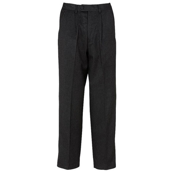 Putney Pleated Trouser Charcoal