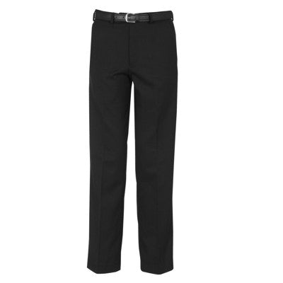 Falmouth Flat Front Trouser Black