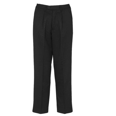 Putney Pleated Trouser Black