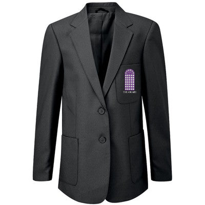 The Arches Girls Blazer Black With Logo