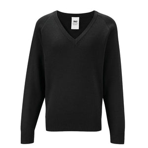 V - Neck Jumper Black