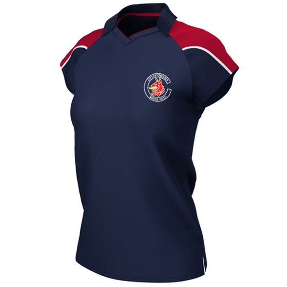 Chester Water Polo Female Polo Shirt Navy / Red