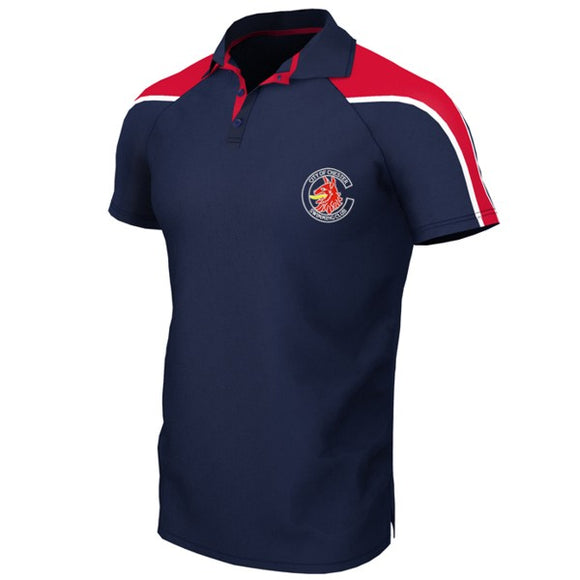 Chester Swimming Unisex Polo Shirt Navy / Red