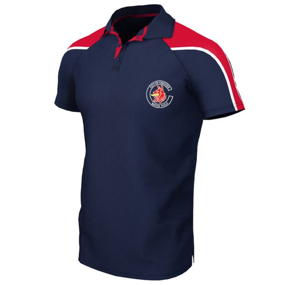 Team Leaders - Chester Water Polo Unisex Polo Navy / Red