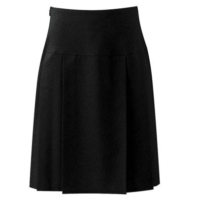 Henley Pleated Skirt Black