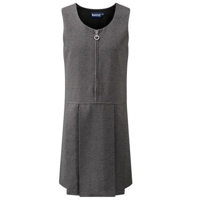 Lynton Pinafore Dress Grey