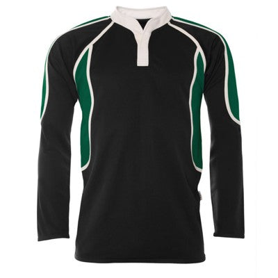 Catholic High Boys Rugby Shirt Black / Bottle