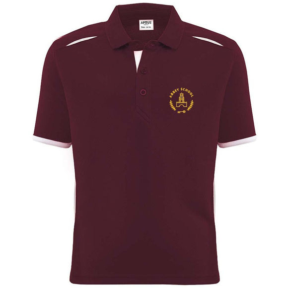 Abbey School PE Polo Burgundy / White (YRS 7 - 14)