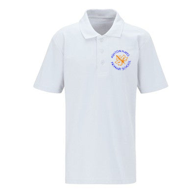 Ashton Hayes PE Polo Shirt White