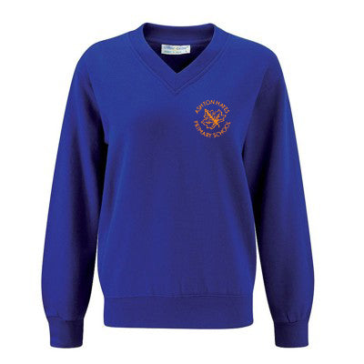 Ashton Hayes V - Neck Sweatshirt Royal