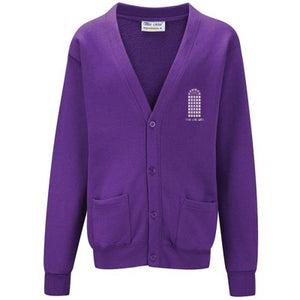 The Arches Cardigan Purple