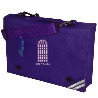 The Arches Satchel Purple