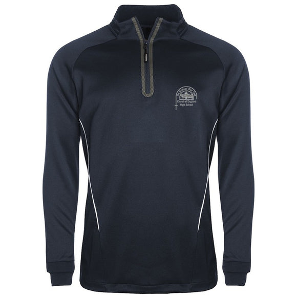 Bishop's High Boys PE 1/4 Zip Training Top Navy / White