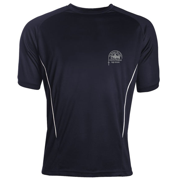 Bishop's High Boys PE Top Navy / White