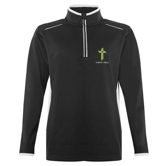 Catholic High 1/4 Zip Top Black / White