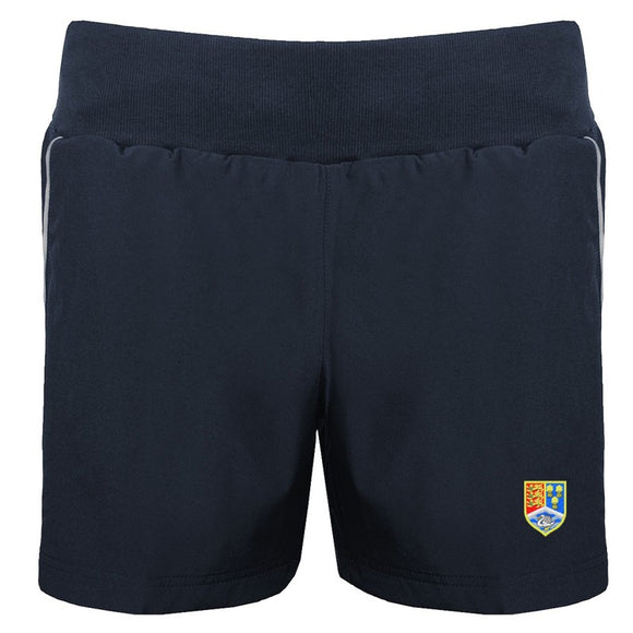 *NEW* Christleton Girls Shorts Navy / Silver