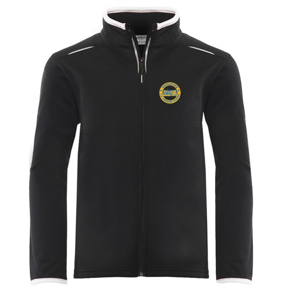 Dodleston Primary PE Full Zip Top Black / White
