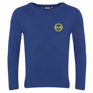 Dodleston Primary V-Neck Jumper Royal