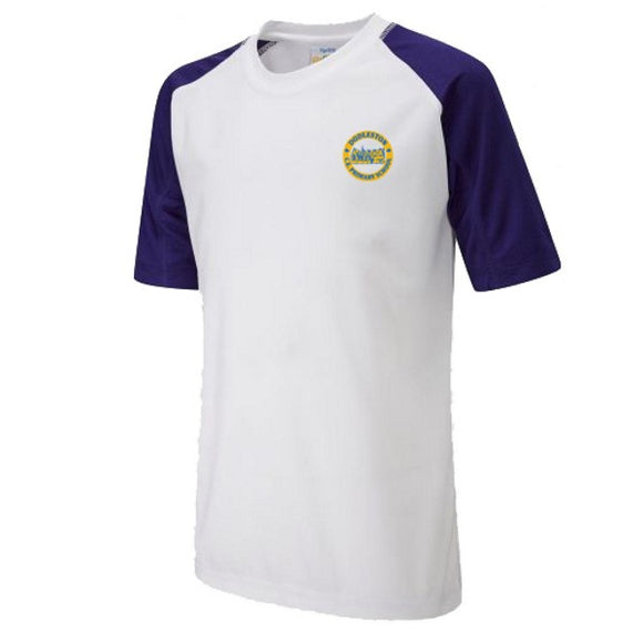 Dodleston Primary PE T-Shirt White / Royal