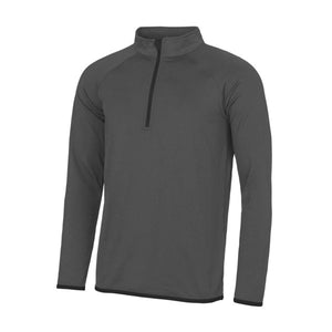 JC031 Dee Point Staff 1/2 Zip Sweatshirt Charcoal / Black