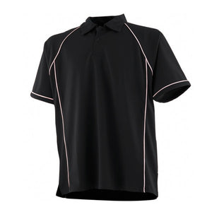 LV370 Dee Point Staff Polo Black / White
