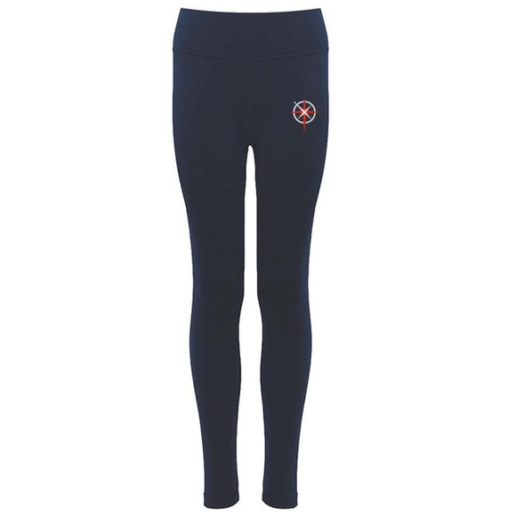 Ellesmere Port C Of E College Leggings - Navy / Silver