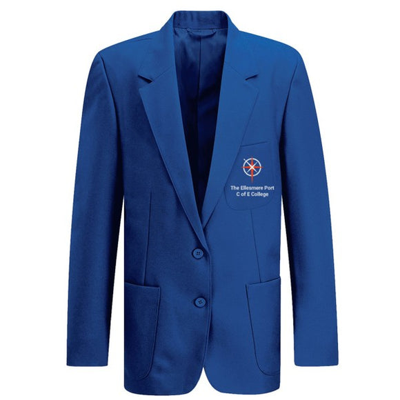 Ellesmere Port C of E College Left Fastening Blazer Royal