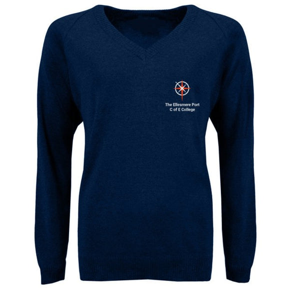 Ellesmere Port C of E College Jumper Navy